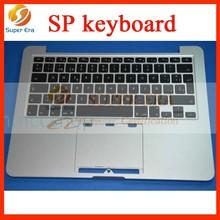 for macbook A1502 pro 13.3'' retina TECLADO ESPANOL keyboard topcase top cover perfect original