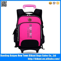 Fashion new design lighted wheel backpack, backpack trolley, trolley school backpack