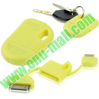 USB 2.0 Keychain USB Charger for iPhone 4 & 4S, iPhone 3GS & 3G, iPad 3 & 2 / iPad, iPod Touch (Yellow)