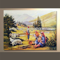 Wholesales modern handmade figures wall art painting