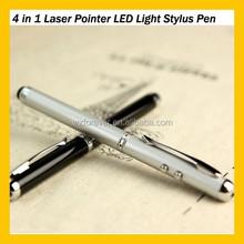 Hot Sales Cooper Laser Pointer LED Light 4 in 1 Stylus