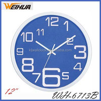 Plastic home decor cheap battery wall clocks