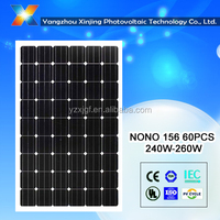 high efficiency and low price solar module 255watt 60pcs solar cell