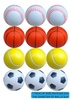 kids play fun 6.3cm hot plastic sport pu golf ball with EN71