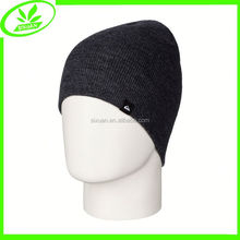 Knitting fashion plain winter ski beanie hats and caps men