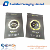 2015 small matte & shinny ziplock packaging pouch / one side clear foil bags