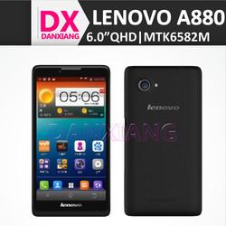 """Original Lenovo A880 Android 4.2 OS MTK6582M Quad Core ROM 8GB 6"""" IPS Screen Dual SIM Lenovo Smart Phone"""