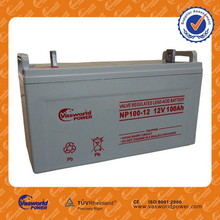 Wholesale price best quality agm battery 12v 100ah for ups solar application factory sale directly for Chile brazil market