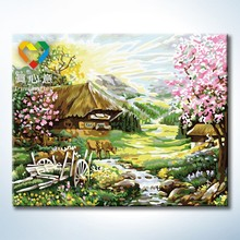 rural scenery oil painting natural scenery painting