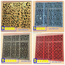 PVDF aluminum perforated screen for building facade decoration