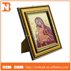 Popular Design Wooden Photo Frame Picture Frame With Golden Color, Many Design For You Perfect Match
