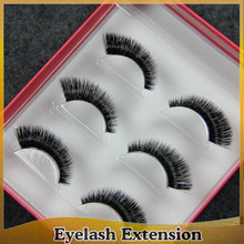 Natural False Eyelashes Invisible Clear Band Long Black Eye Lashes Make Up