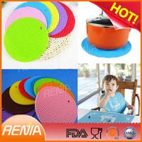 RENJIA orange placemat orange silicone pastry mat orange kitchen mat