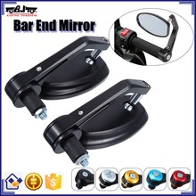 BJ-RM-022 Manufacture universal CNC motorcycle bar end mirror for suzuki kawasaki
