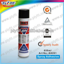non-permanent spray adhesive for clothing
