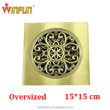 2014New arrival Hot sell 15cm Bathroom Brass Floor drain Gold finish top quality bathroom accessories