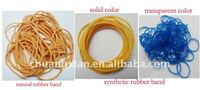 Rubber bands from different raw material