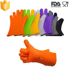 Amazon Highest Rated BBQ Waterproof Kitchen Silicone Gloves Supplier