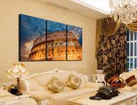 3 Piece Tall Classical architecture Modern Home Wall Decor painting Canvas Art HD Picture Paint on Canvas Prints