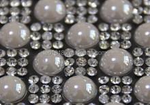 Hot fix white ceramics crystal rhinestone transfer 24*40cm