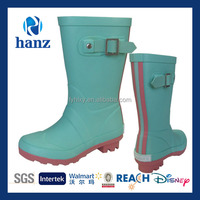 new design fashion girls half wellies rubber cute water boots for children