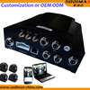 4 channel 3G CCTV camera system with people counter GPS positioning