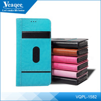 Veaqee manufacturing flip leather mobile phone case for samsung galaxy edge +