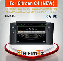 HIFIMAX Android 4.4.4 New Citroen C4 car stereo with gps navigation mp3 radio cd player car dvd player for New Citroen C4
