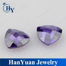 AAA Amethyst Trillion Double Checker Cut CZ Types Gemstone