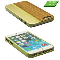 4.7 mobile phone wood+plastic bumper back cover case for Apple iphone 6/6plus