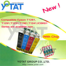 New YOTAT color ink cartridge for Epson T1281/T1282/T1283/T1284