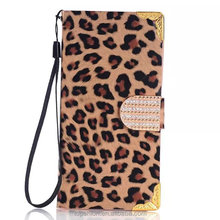 Mobile Accessories For Samsung Galaxy S6 Cases, Case, For Galaxy S6 Leather Cover Leopard with Diamonds