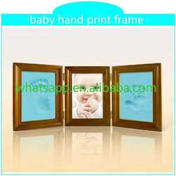 baby handprint and footprint promotional product classical lover photo frame