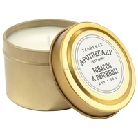 Tobacco & Patchouli Scented Travel Tin Candle