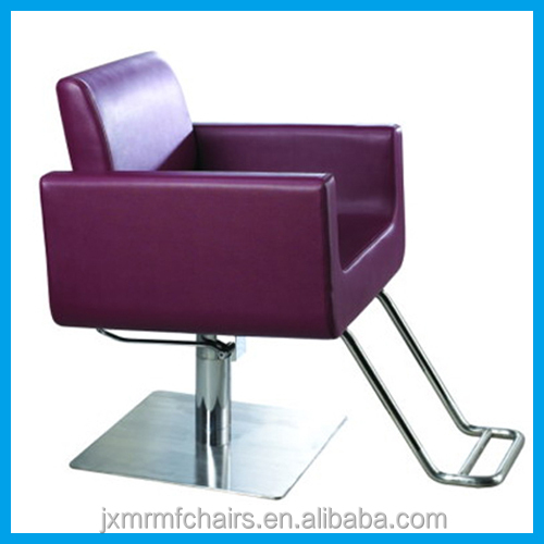 Chair hair salon furnitures purple color styling chair for Beauty salon furniture suppliers