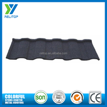 Black chinese color coated roofing tile/colour coated roofing sheets
