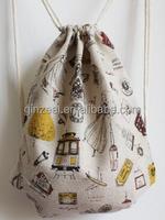 High Quality Custom Cotton Calico Drawstring Shoe Bag