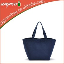 Blank Navy Tote Food Bag Vegetable Bag Zippered