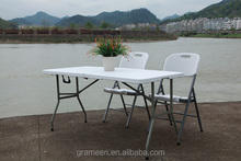 5ft folding plastic picnic and wedding table and chairs