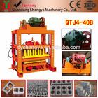 Qtj4-40 Shandong Shengya Machinery tijolo concreto do bloco que faz a máquina preço para Moçambique