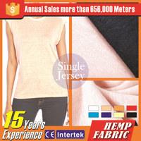 manufacture cotton linen /hemp fabric roll for fashion garment