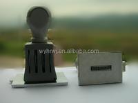 Office Plastic Rubber Metal word custom roller stamp