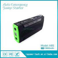Automotive emergency tool Multi function portable 12V car jump starter 13800mAh