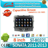 Android 4.4 Car dvd player/radio/gps for Hyundai Sonata with A9 Quad Core Supports mirror link