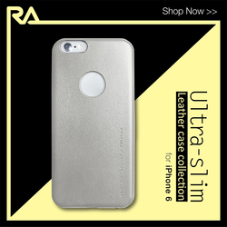 Ultra Slim i6+ Lux Silver, best bulk wholesale PU leather case for iPhone 6 Plus