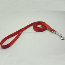 Good quality plain color nylon dog leash with metal hook