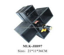 Alibaba china new arrival slide faux leather wine box