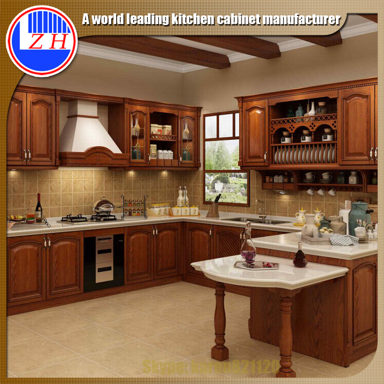 Granite Countertop Material and painted or stained Door Panel Surface