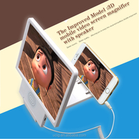 Mobile Phone 3D Enlarged Screen Magnifier Glass with Speaker, Accessory for Cell Phone