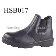 CH, UK style hot selling no-lace working steel toe safety boots Chelsea Dealer